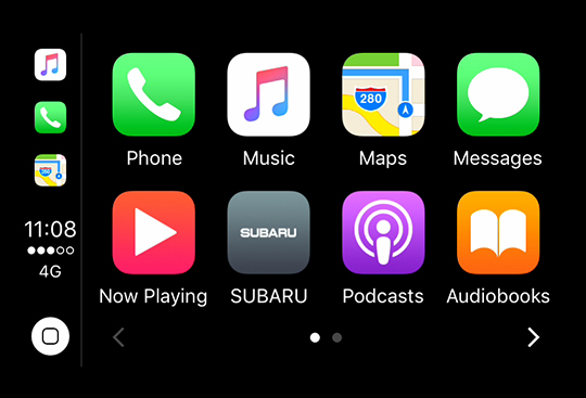 Apple CarPlay<sup>*2</sup> and Android Auto<sup>*3</sup>